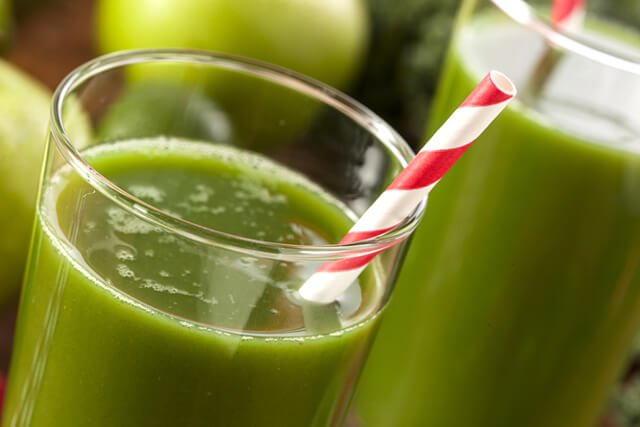 Green smoothie made with Granny Smith apples