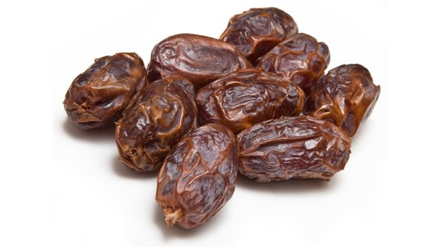 Dates against a white background