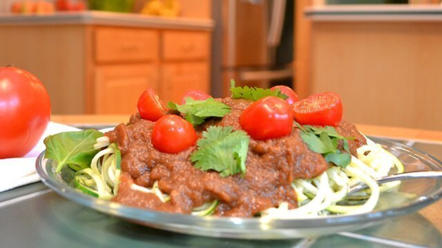 Zucchini Spaghetti with Savory Marinara Sauce