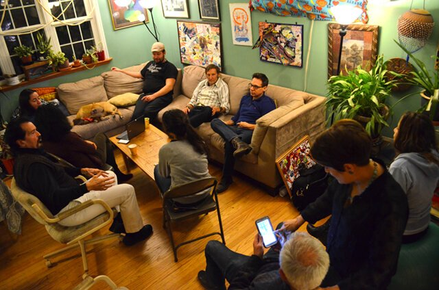 Thanksgiving is celebrated at Arnold Kauffman's home on November 27, 2014