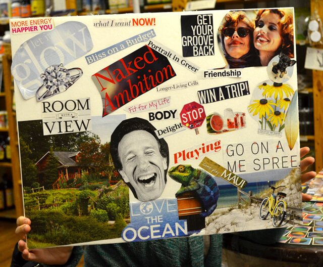 A vision board created during the Arnold's Way workshop