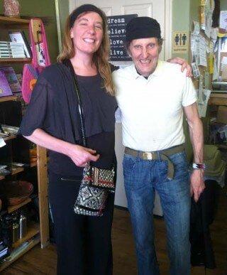 Cassandra Glynn Kutner poses with Arnold Kauffman