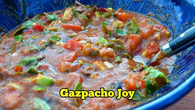 Fruit-Powered Video screenshot for Gazpacho Joy recipe