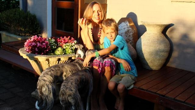 Anthea Frances Falkiner with son Felix and two dogs - Anthea Frances Falkiner's Top 5 Tips for Transitioning to a Raw Food Diet