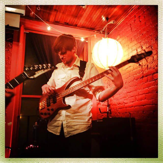 Joss Fossgreen plays bass with Tempest