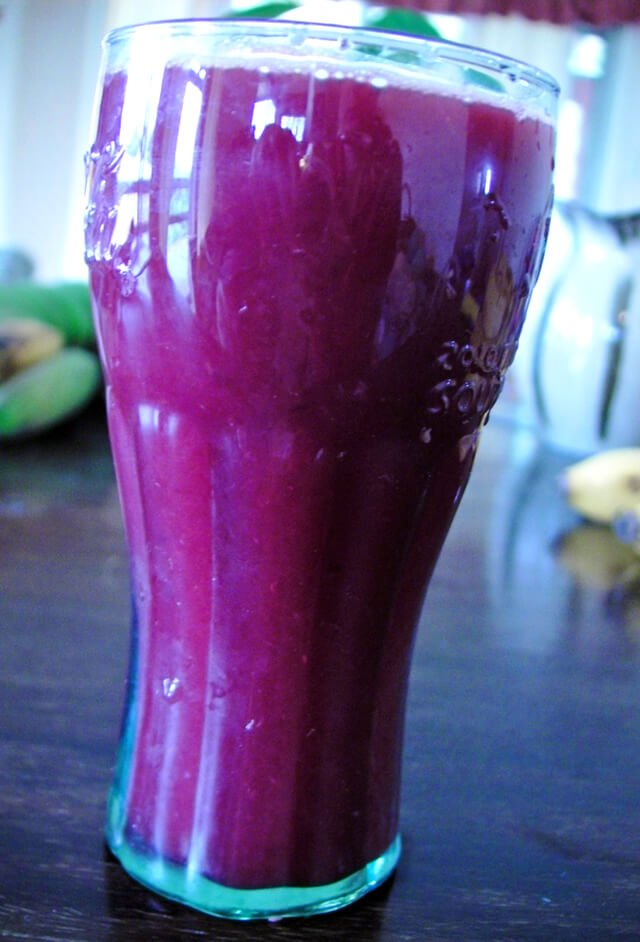 Blood oranges juiced in a glass