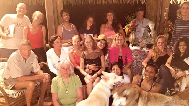A group photo of the Love Raw Food Retreat