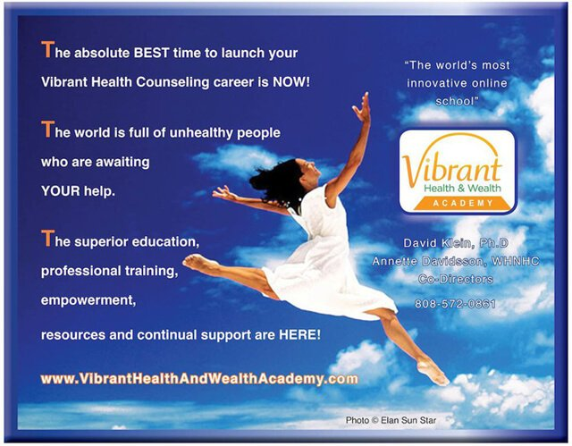 Vibrant Health And Wealth Academy ad