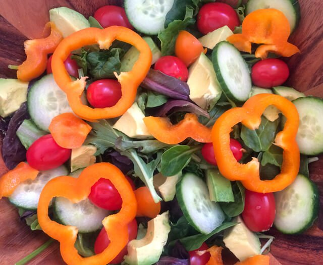 Photo of a salad made by John Fallucca