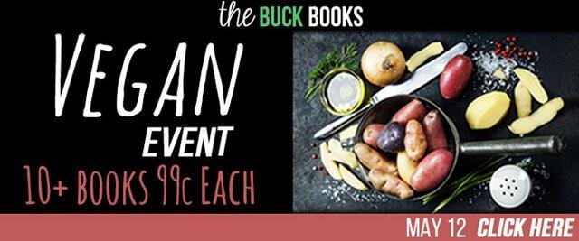 Flier for the Buck Books Vegan Event
