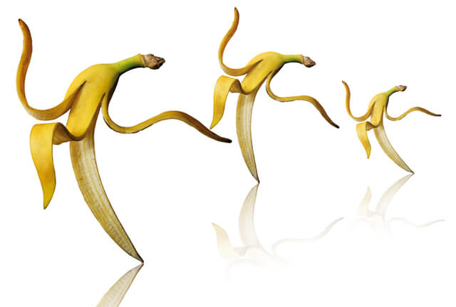 An illustration of dancing bananas
