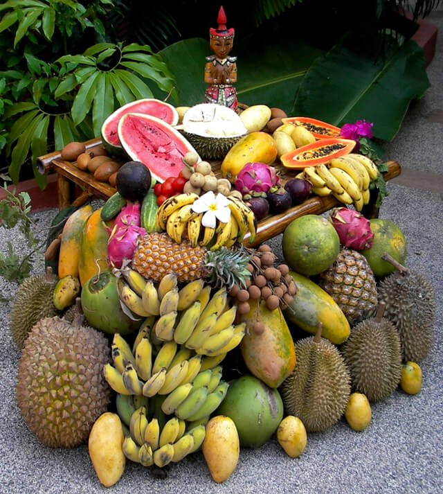 Petr Cech's fruit stash at a retreat in Koh Samui in 2010