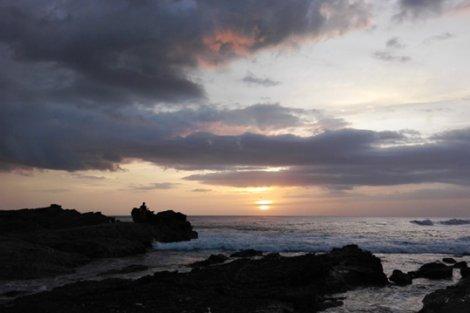 Large rocks at a Costa Rica beach
