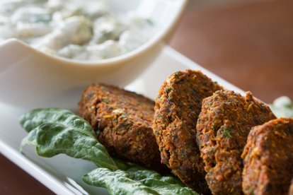 Falafel, prepared by Jon Kozak