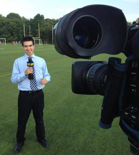 Marco Ranzi broadcasting a sporting event