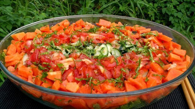 Recipe for Simple Sweet Fruity Salad from Jamie Pounds