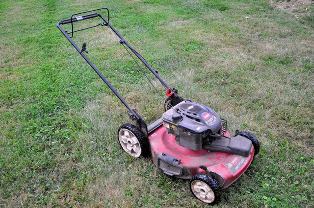 Korey Constable's Toro push lawnmower