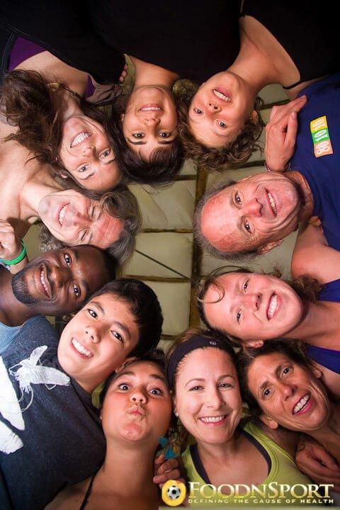 Katy Craine and FoodnSport staff and volunteers