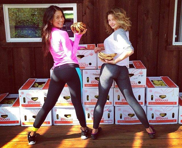 Katy's first monomeal of fruit gave her lightning energy to start running.