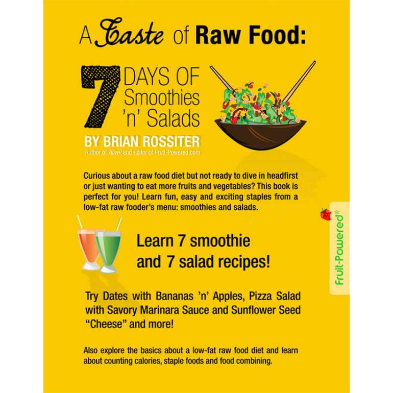A taste of raw food brian rossiter raw vegan meal plan fruit a taste of raw food 7 days of smoothies n salads by brian forumfinder Images
