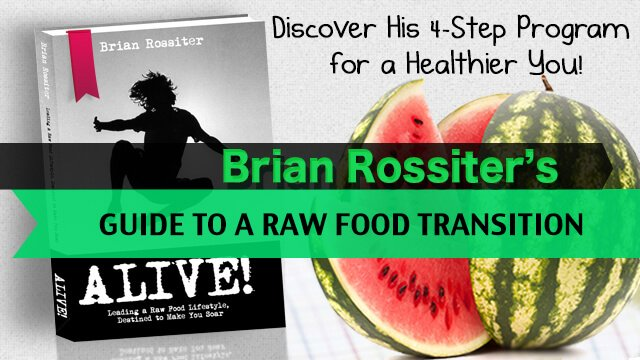 Alive by Brian Rossiter - cover banner - raw vegan guide - Fruit-Powered Store