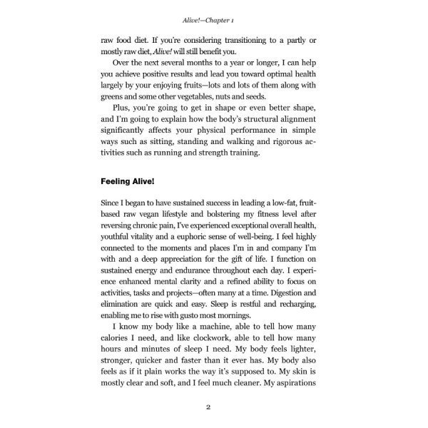Alive by Brian Rossiter - page 2 - raw vegan guide - Fruit-Powered Store
