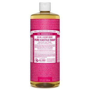 Dr. Bronner's Castile Soaps - rose bottle - natural soaps - Fruit-Powered Store