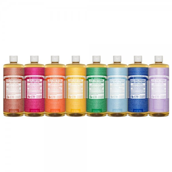 Dr. Bronner's Castile Soaps - side by side - natural soaps - Fruit-Powered Store