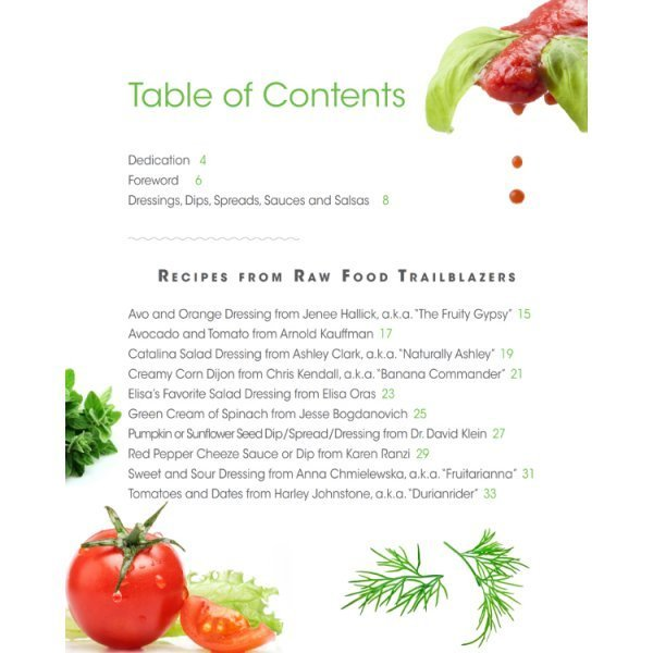 Dressings, Dips, Spreads, Sauces and Salsas: Mouthwatering Recipe Book Series by Brian Rossiter - table of contents 01 - Fruit-Powered Store