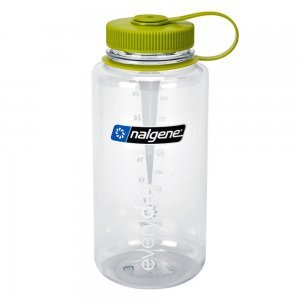 Nalgene bottles - smoothie bottles - clear bottle with green cap - Fruit-Powered Store