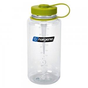 Nalgene bottles - smoothie bottles - clear bottle with green cap - Fruit-Powered Store