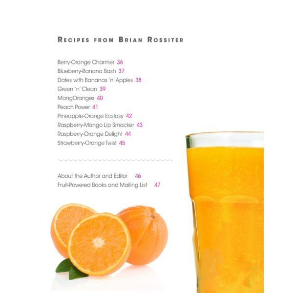 Smoothies: Mouthwatering Recipe Book Series by Brian Rossiter - table of contents 02 - Fruit-Powered Store