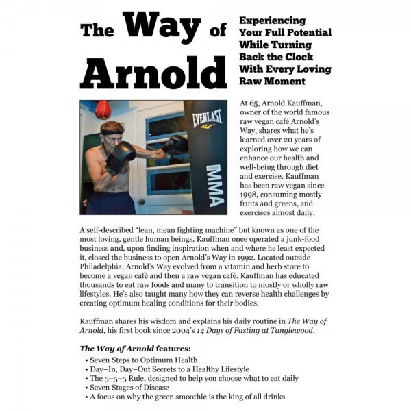 The Way of Arnold by Arnold Kauffman - back cover - Fruit-Powered Store