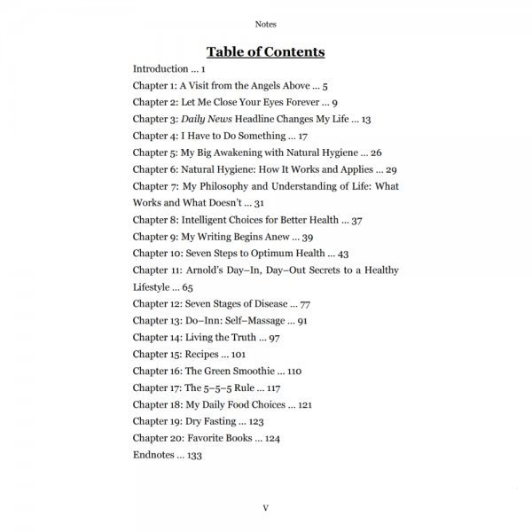 The Way of Arnold by Arnold Kauffman - table of contents - Fruit-Powered Store