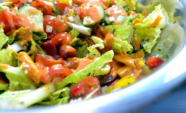 An early version of Mexican Sun Salad