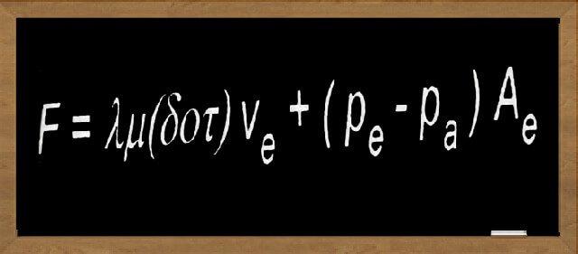 An equation written on a chalkboard
