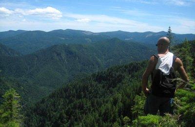 Jeff Sekerak overlooks Tillamook Forest