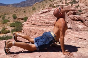 Jeff Sekerak doing Hindu push-ups