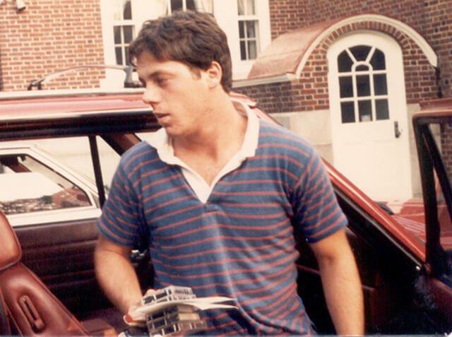 Rick Dina in 1986 before adopting a raw vegan diet
