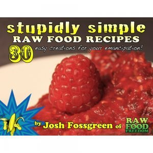 Stupidly Simple Raw Food Recipes by Josh Fossgreen - front cover - Fruit-Powered Store