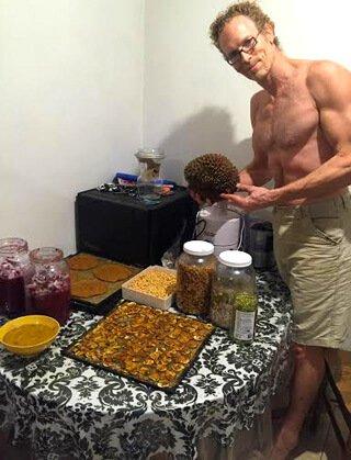Jay Kaiser with kimchi and durian on Halloween 2015