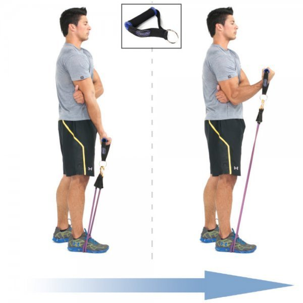 Bodylastics Resistance Bands - bicep curl - exercise bands - Fruit-Powered Store