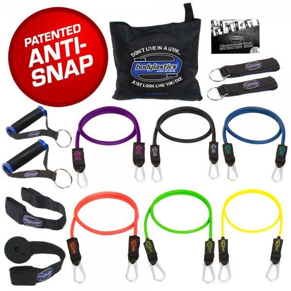 Bodylastics Resistance Bands - Bodylastics 14-piece set - exercise bands - Fruit-Powered Store