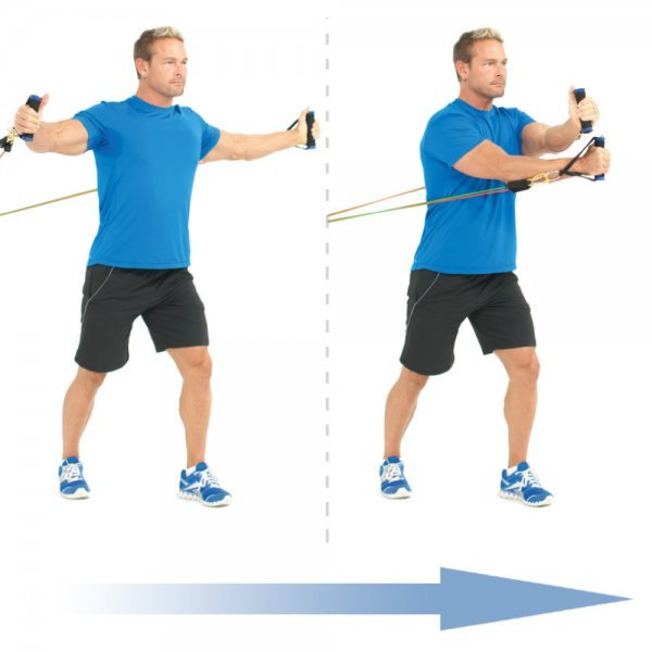 Bodylastics Resistance Bands - crossover chest fly - exercise bands - Fruit-Powered Store