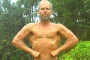 Charlie Abel front pose - raw vegan bodybuilder - Fruit-Powered