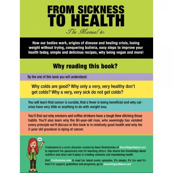 From Sickness to Health by Anna Chmielewska - Fruitarianna - back cover - Fruit-Powered Store