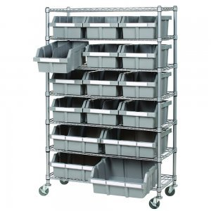 Home food storage racks - food storage bins - Seville Classics 7-Shelf Rack System - Fruit-Powered Store
