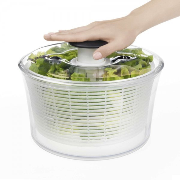 OXO salad spinners with lettuce - Fruit-Powered Store