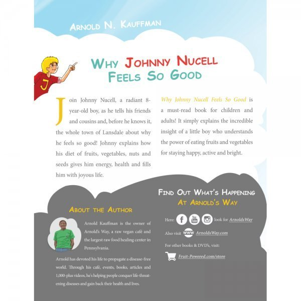 Why Johnny Nucell Feels So Good by Arnold Kauffman - back cover - Fruit-Powered Store