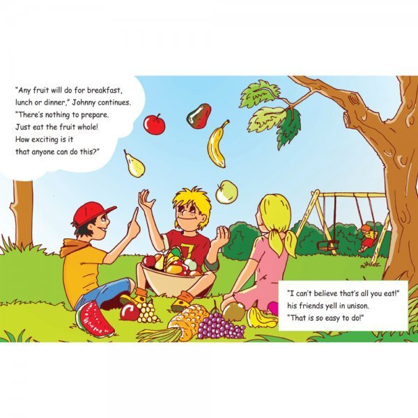 Why Johnny Nucell Feels So Good by Arnold Kauffman - pages 14 and 15 - Fruit-Powered Store